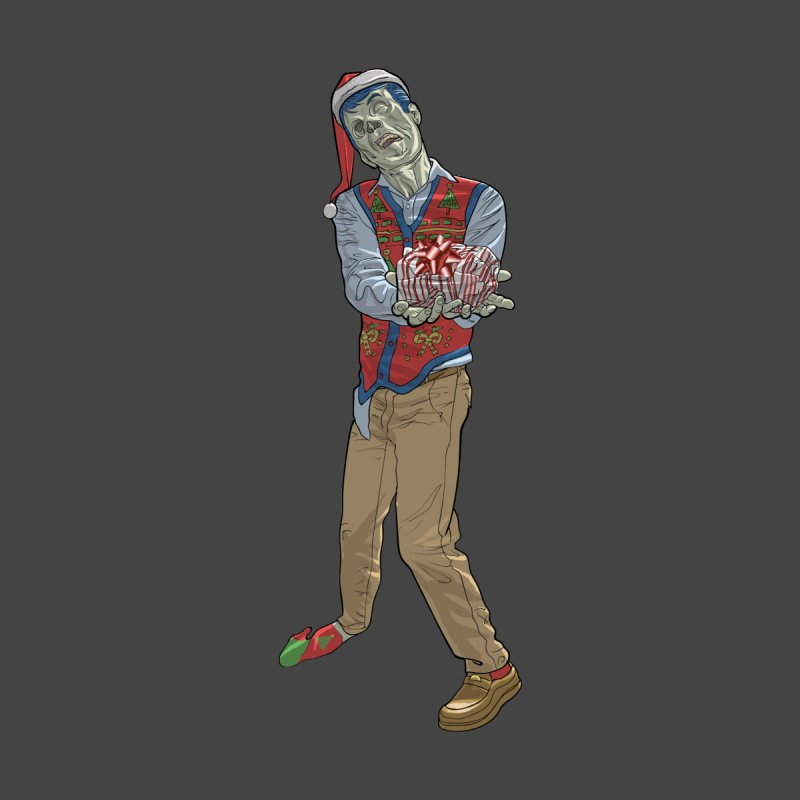 Christmas Zombie  Men's T-Shirt by Ayota Illustration Shop