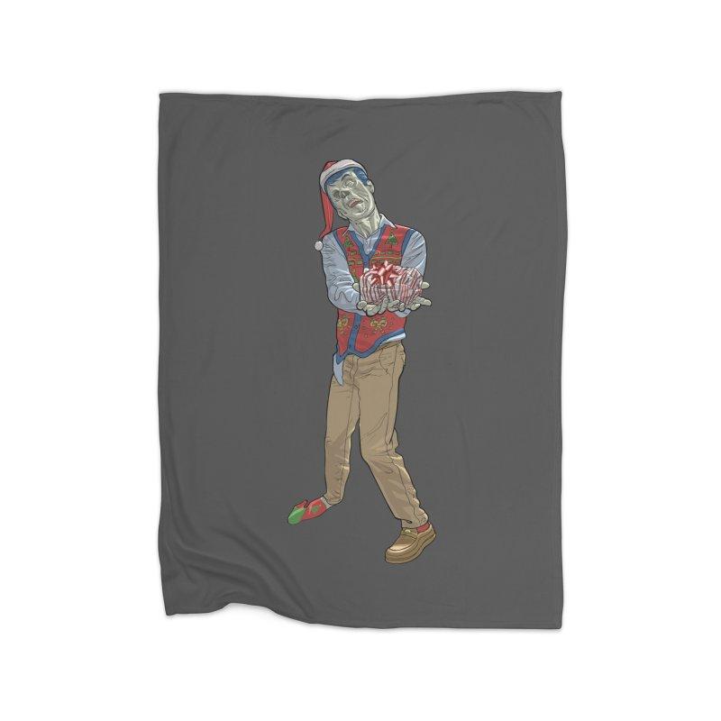Christmas Zombie  Home Fleece Blanket Blanket by Ayota Illustration Shop