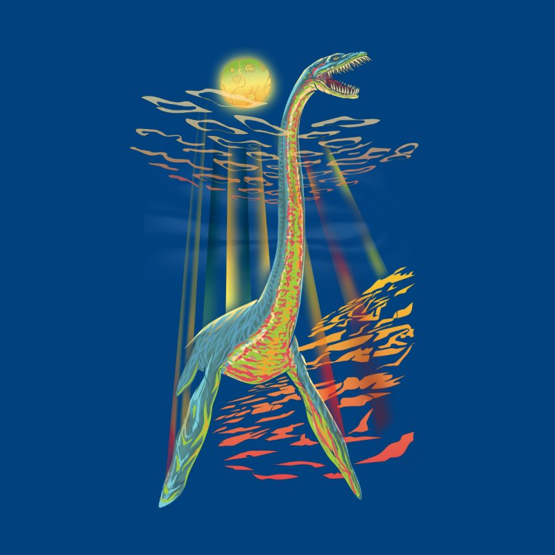 The Loch Ness Plesiosaur Women's V-Neck by Ayota Illustration Shop