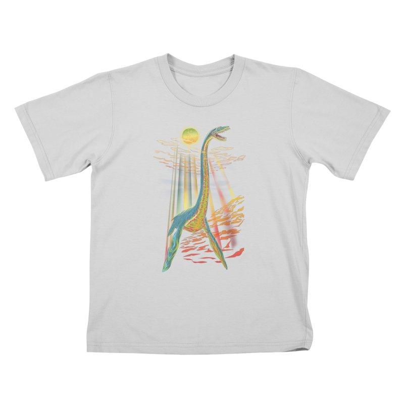 The Loch Ness Plesiosaur Kids T-Shirt by Ayota Illustration Shop
