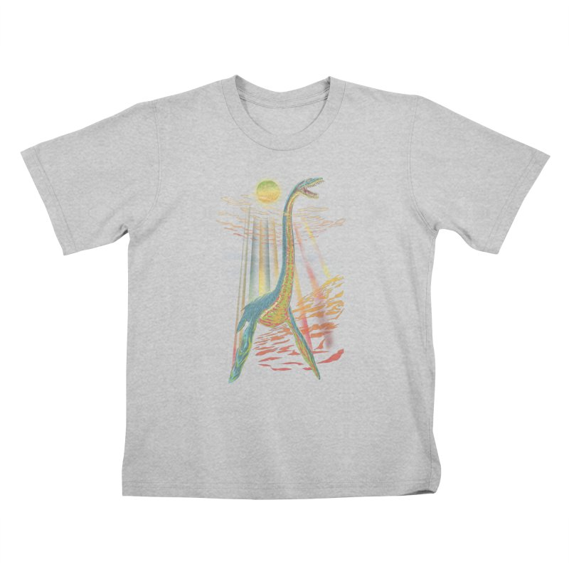 The Loch Ness Plesiosaur Kids T-Shirt by Ayota Illustration Shop