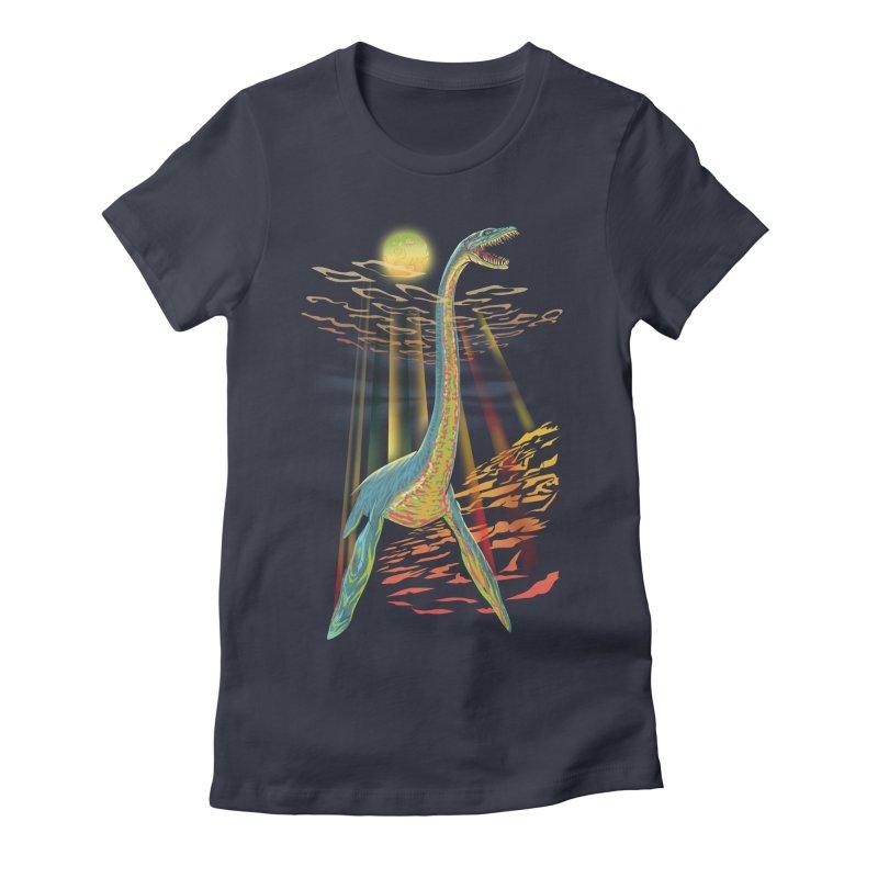The Loch Ness Plesiosaur Women's T-Shirt by Ayota Illustration Shop