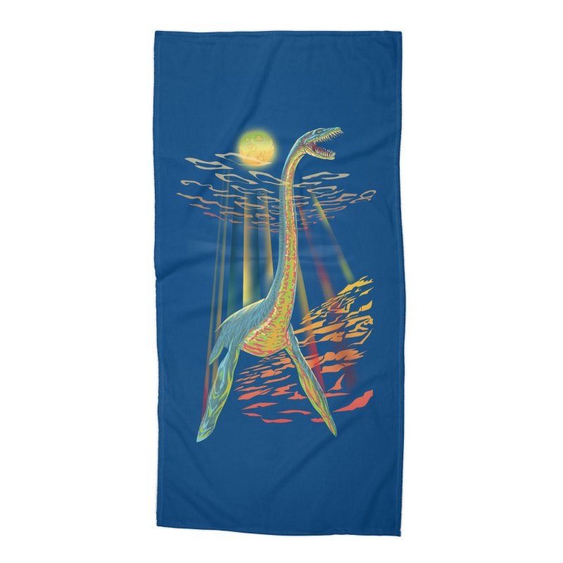 The Loch Ness Plesiosaur Accessories Beach Towel by Ayota Illustration Shop