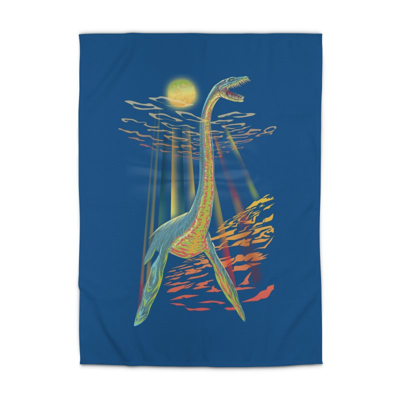 The Loch Ness Plesiosaur Home Rug by Ayota Illustration Shop