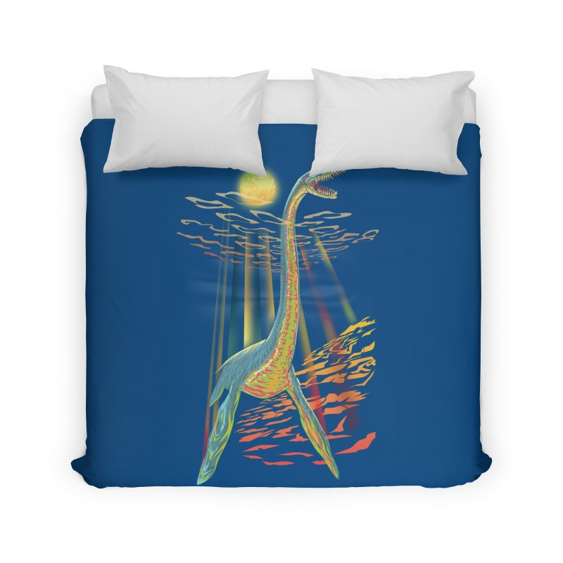 The Loch Ness Plesiosaur Home Duvet by Ayota Illustration Shop