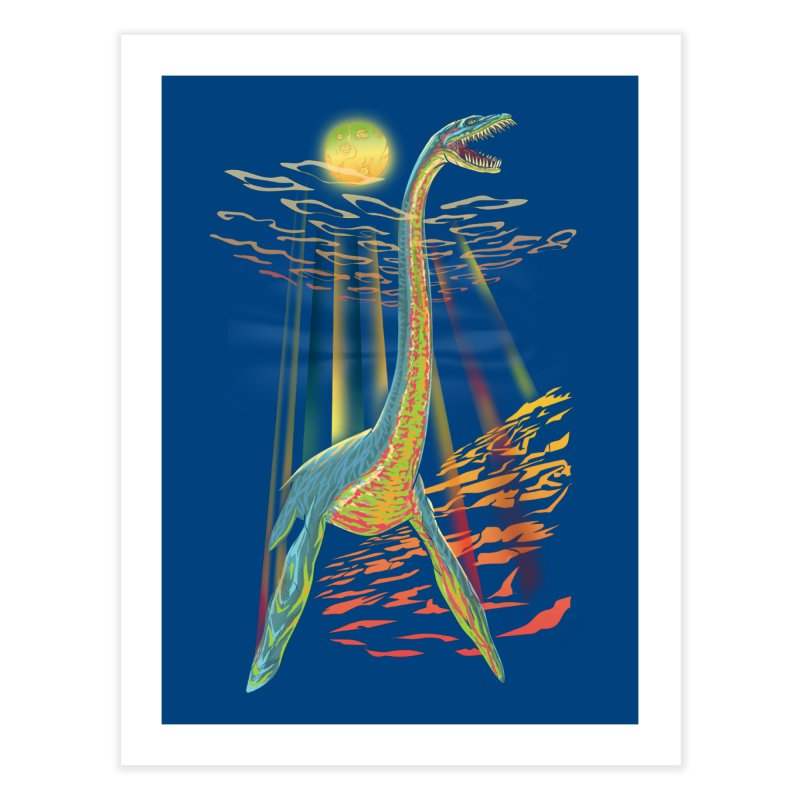 The Loch Ness Plesiosaur Home Fine Art Print by Ayota Illustration Shop