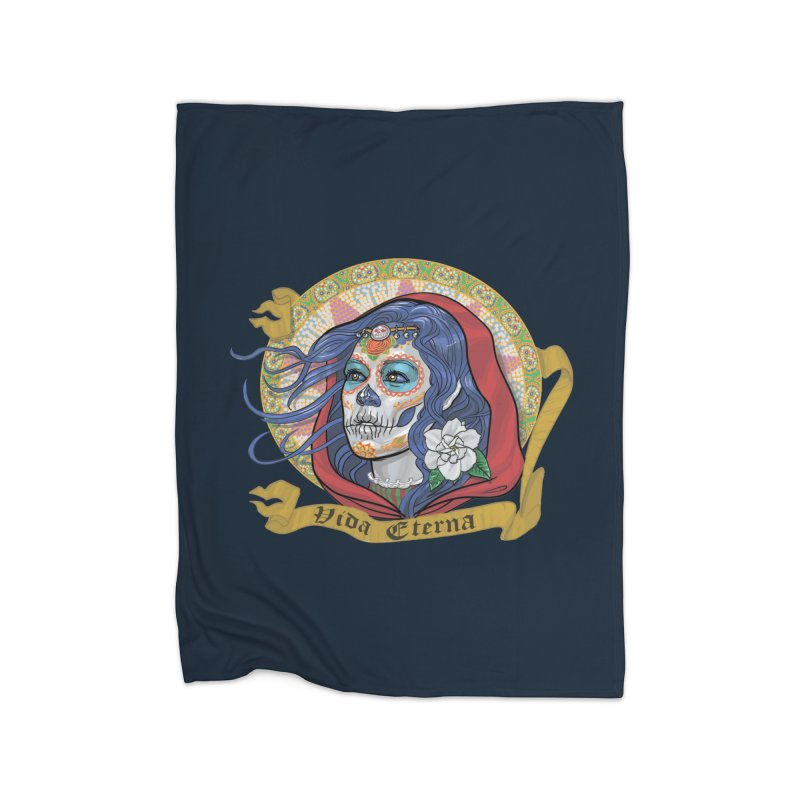 Catrina (Day of the Dead)  Home Fleece Blanket Blanket by Ayota Illustration Shop