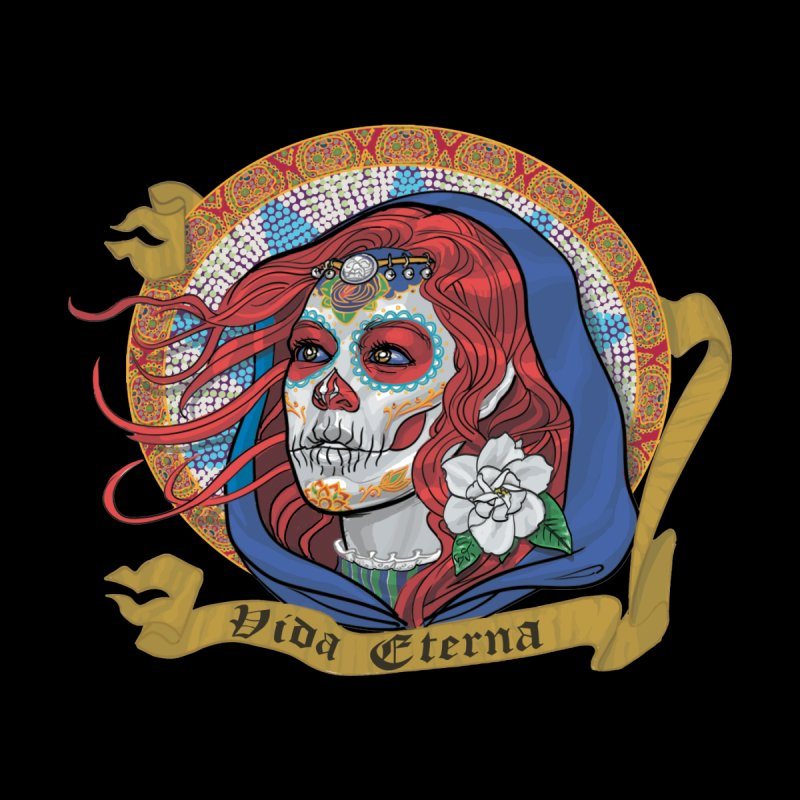 Red Catrina (Day of the Dead)  Men's T-Shirt by Ayota Illustration Shop