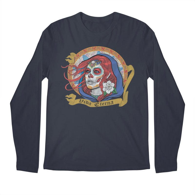 Red Catrina (Day of the Dead)  Men's Regular Longsleeve T-Shirt by Ayota Illustration Shop