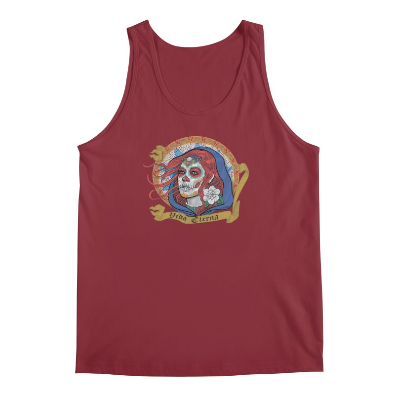 Red Catrina (Day of the Dead)  Men's Regular Tank by Ayota Illustration Shop