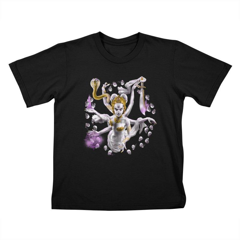 Vampire Goddess Kids T-Shirt by Ayota Illustration Shop