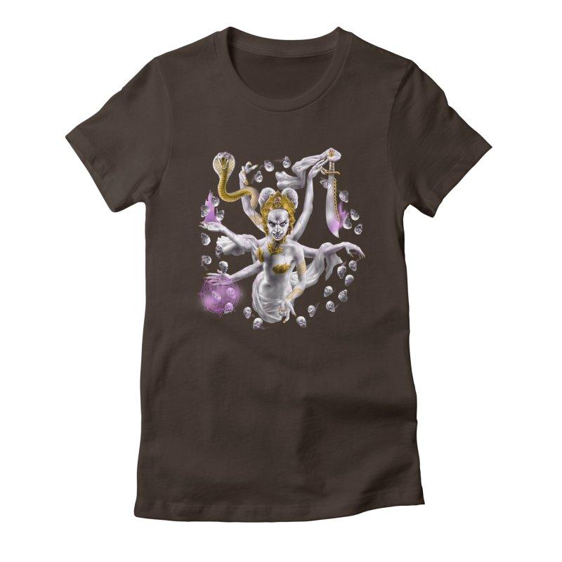 Vampire Goddess Women's Fitted T-Shirt by Ayota Illustration Shop