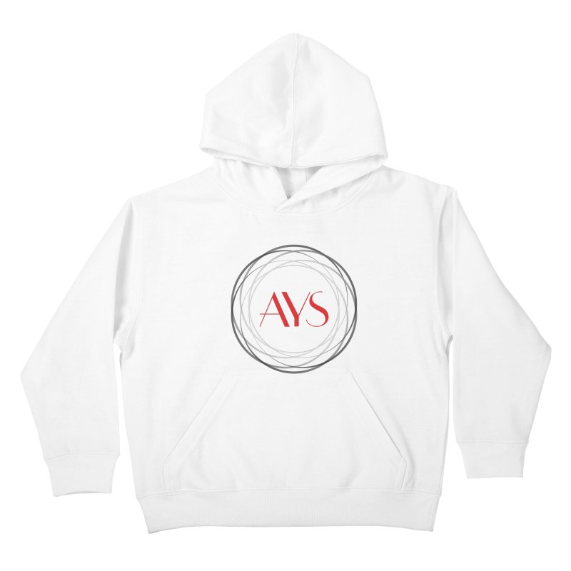 Logo in Kids Pullover Hoody White by American Youth Symphony Merchandise