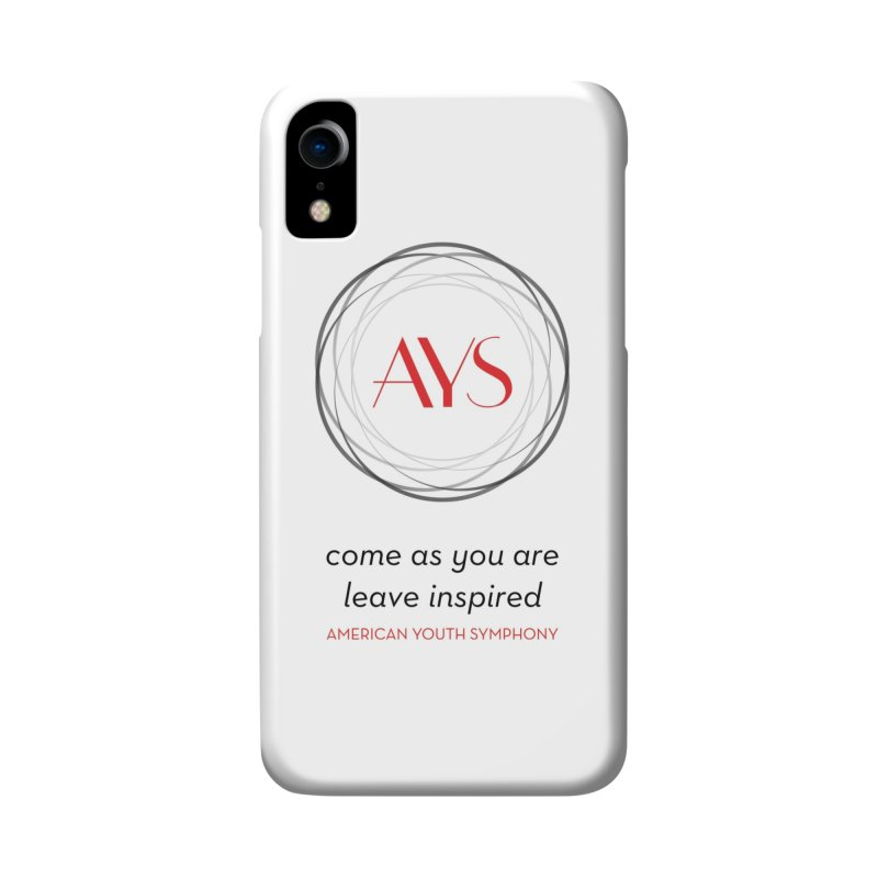 Logo/Tagline in iPhone XR Phone Case Slim by American Youth Symphony Merchandise