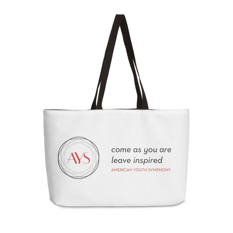 Logo/Tagline Accessories Weekender Bag Bag by American Youth Symphony Merchandise