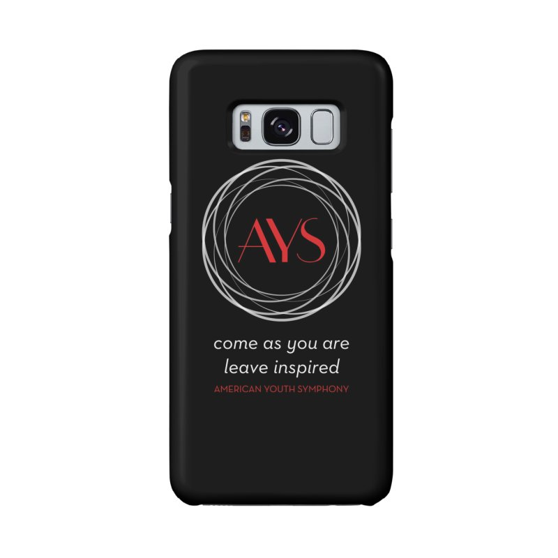 Logo/Tagline Dark Background in Galaxy S8 Phone Case Slim by American Youth Symphony Merchandise