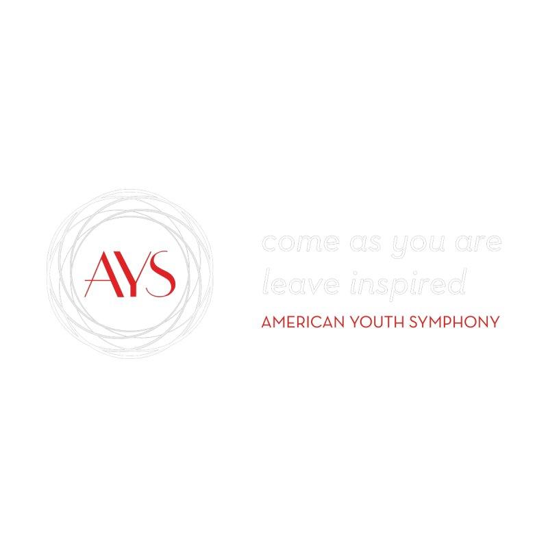 Logo/Tagline Dark Background by American Youth Symphony Merchandise