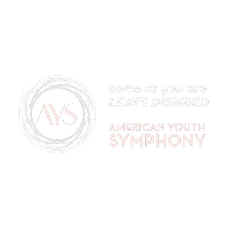 Logo/Tagline White+Tan by American Youth Symphony Merchandise