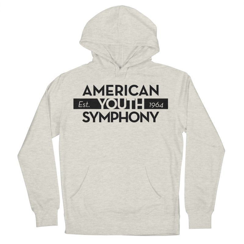 Est 1964 (Black) in Men's French Terry Pullover Hoody Heather Oatmeal by American Youth Symphony Merchandise