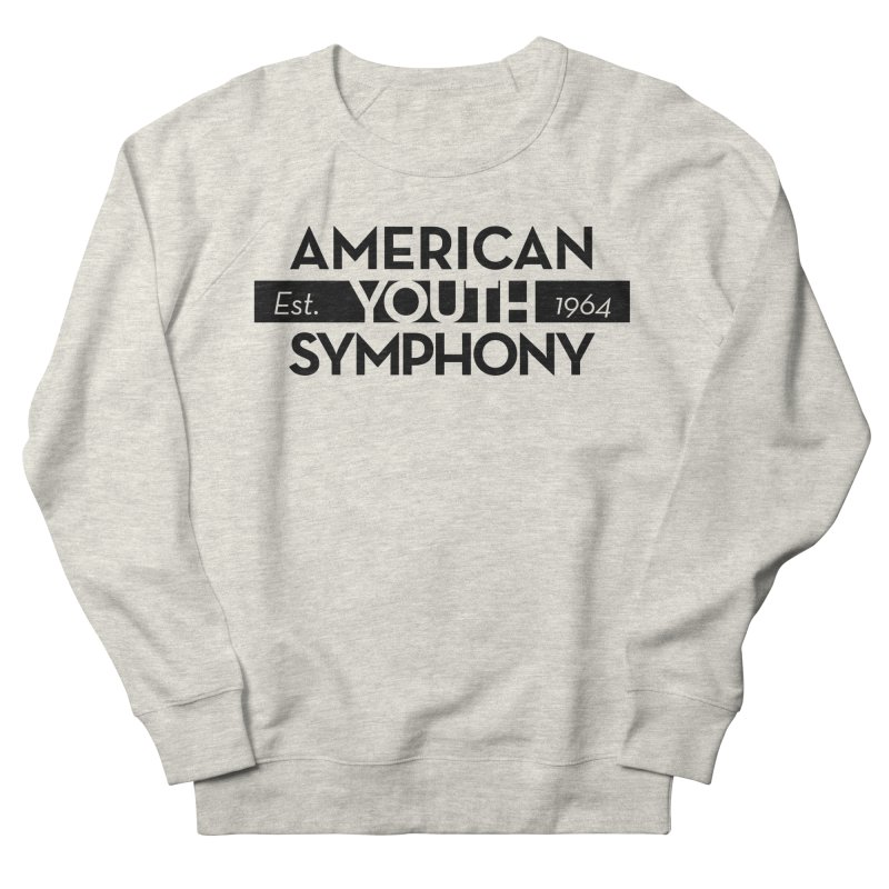 Est 1964 (Black) in Men's French Terry Sweatshirt Heather Oatmeal by American Youth Symphony Merchandise