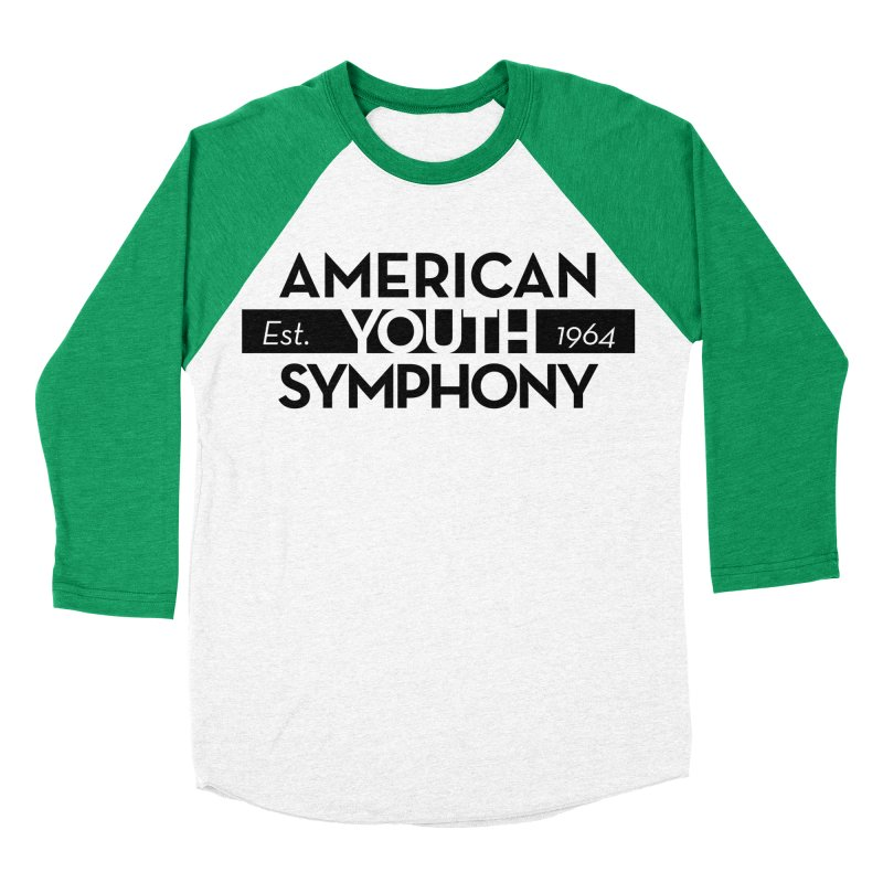 Est 1964 (Black) in Men's Baseball Triblend Longsleeve T-Shirt Tri-Kelly Sleeves by American Youth Symphony Merchandise