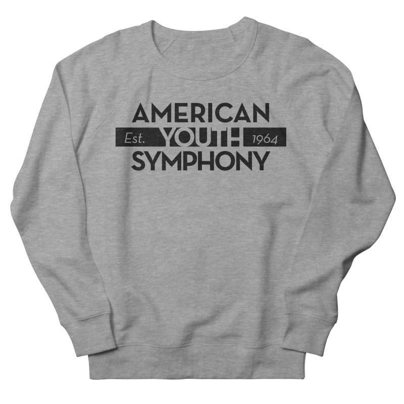 Est 1964 (Black) Women's French Terry Sweatshirt by American Youth Symphony Merchandise