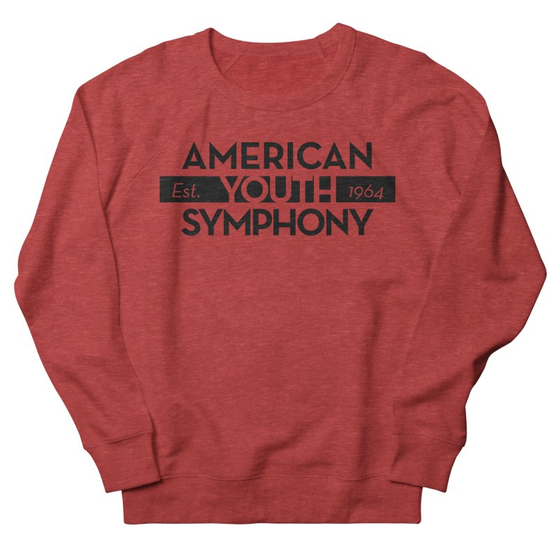 Est 1964 (Black) Men's French Terry Sweatshirt by American Youth Symphony Merchandise