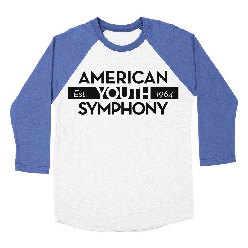 Est 1964 (Black) Women's Baseball Triblend Longsleeve T-Shirt by American Youth Symphony Merchandise