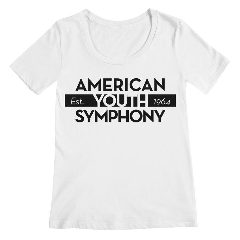 Est 1964 (Black) Women's Regular Scoop Neck by American Youth Symphony Merchandise