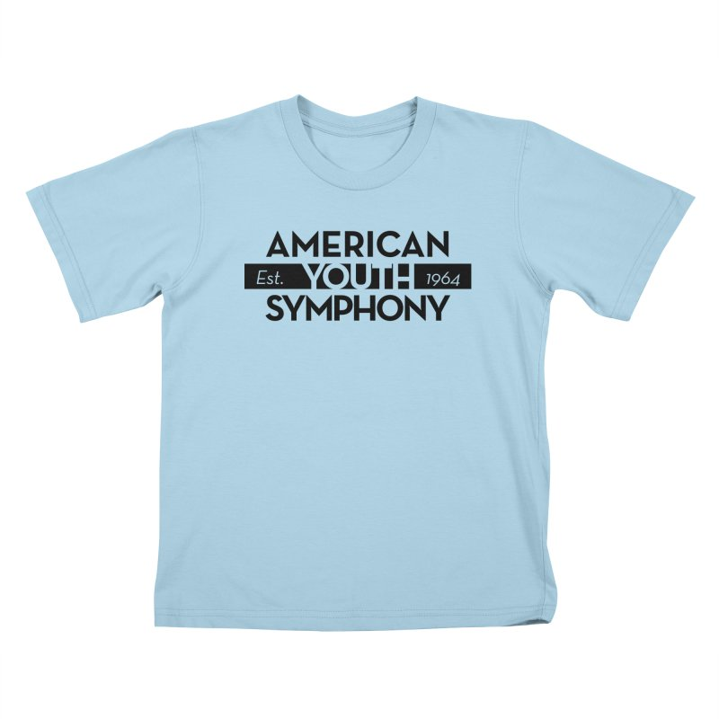 Est 1964 (Black) in Kids T-Shirt Powder Blue by American Youth Symphony Merchandise