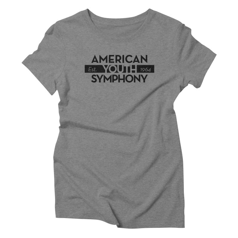 Est 1964 (Black) Women's Triblend T-Shirt by American Youth Symphony Merchandise