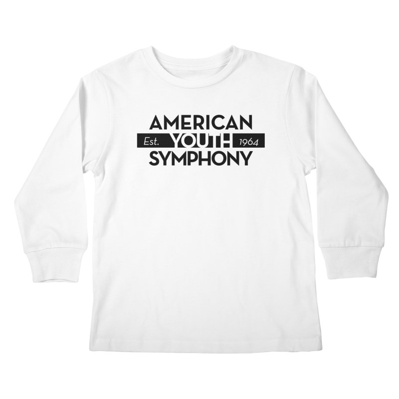 Est 1964 (Black) in Kids Longsleeve T-Shirt White by American Youth Symphony Merchandise