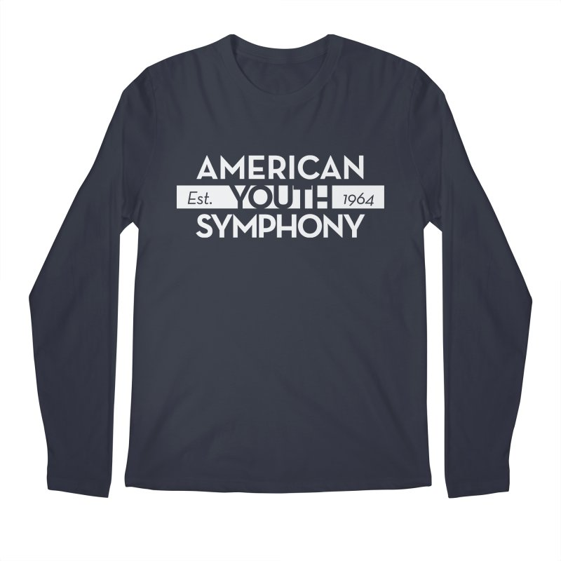 Est. 1964 (white) in Men's Regular Longsleeve T-Shirt Midnight by American Youth Symphony Merchandise