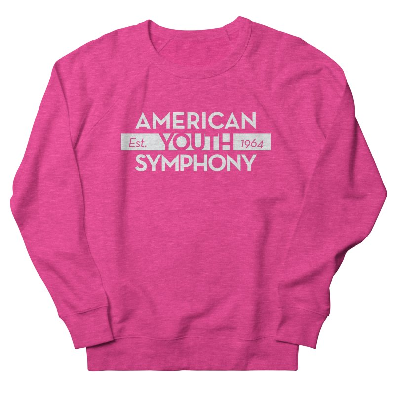 Est. 1964 (white) in Men's French Terry Sweatshirt Heather Heliconia by American Youth Symphony Merchandise