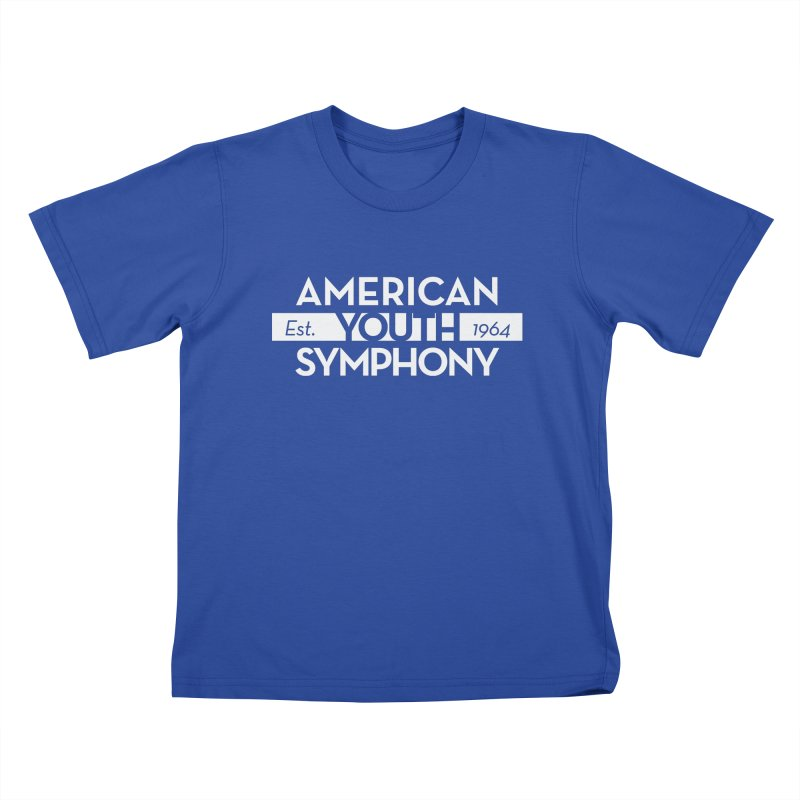Est. 1964 (white) Kids T-Shirt by American Youth Symphony Merchandise