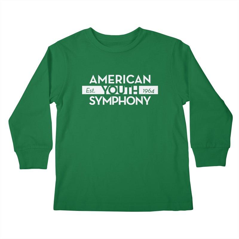 Est. 1964 (white) Kids Longsleeve T-Shirt by American Youth Symphony Merchandise
