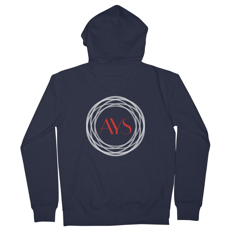 White Ring Logo in Men's French Terry Zip-Up Hoody Navy by American Youth Symphony Merchandise