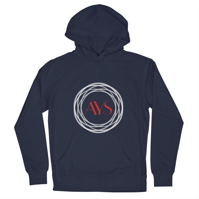 White Ring Logo Men's French Terry Pullover Hoody by American Youth Symphony Merchandise