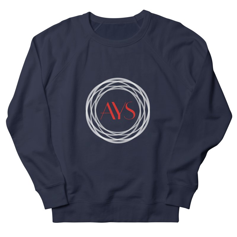 White Ring Logo Women's French Terry Sweatshirt by American Youth Symphony Merchandise