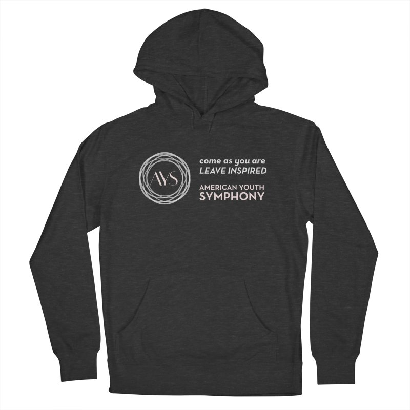 Logo/Tagline Horizontal Men's French Terry Pullover Hoody by American Youth Symphony Merchandise