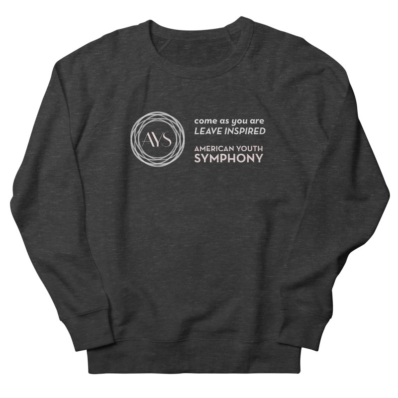 Logo/Tagline Horizontal Women's French Terry Sweatshirt by American Youth Symphony Merchandise