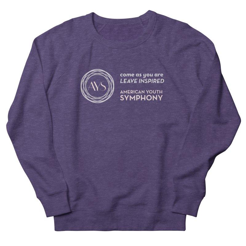Logo/Tagline Horizontal Men's French Terry Sweatshirt by American Youth Symphony Merchandise