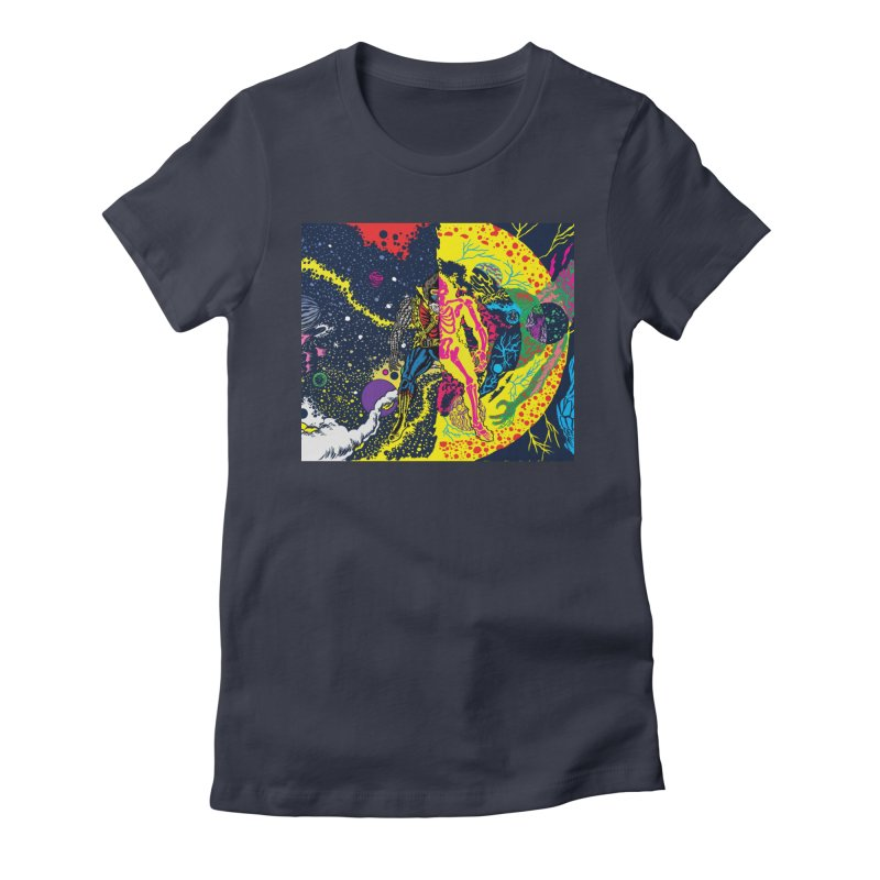 Interstella Haze Women's Fitted T-Shirt by Alexis Ziritt