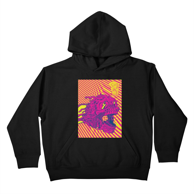 Space Riders - Loco Kids Pullover Hoody by Alexis Ziritt