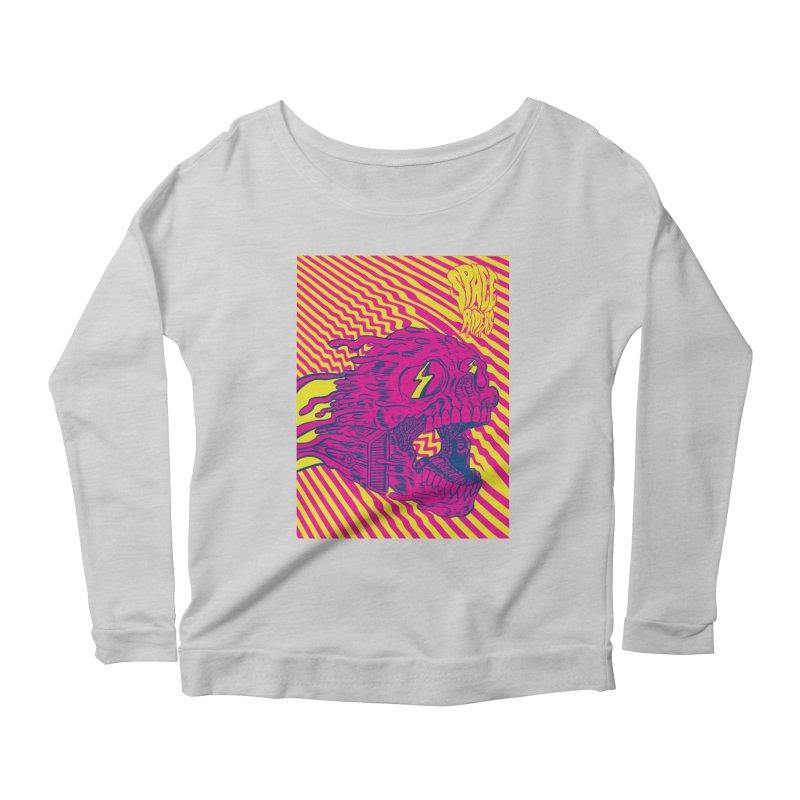Space Riders - Loco Women's Scoop Neck Longsleeve T-Shirt by Alexis Ziritt