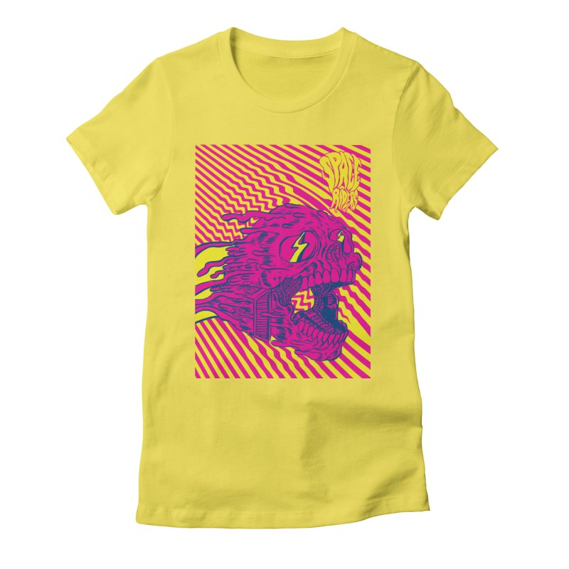 Space Riders - Loco Women's Fitted T-Shirt by Alexis Ziritt