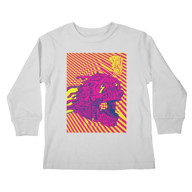 Space Riders - Loco Kids Longsleeve T-Shirt by Alexis Ziritt