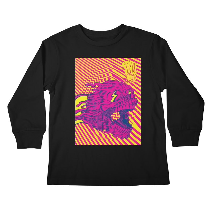 Space Riders - Loco Kids Longsleeve T-Shirt by Alexis Ziritt