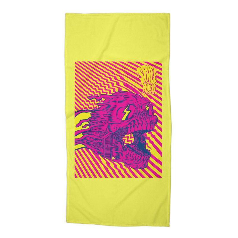 Space Riders - Loco Accessories Beach Towel by Alexis Ziritt