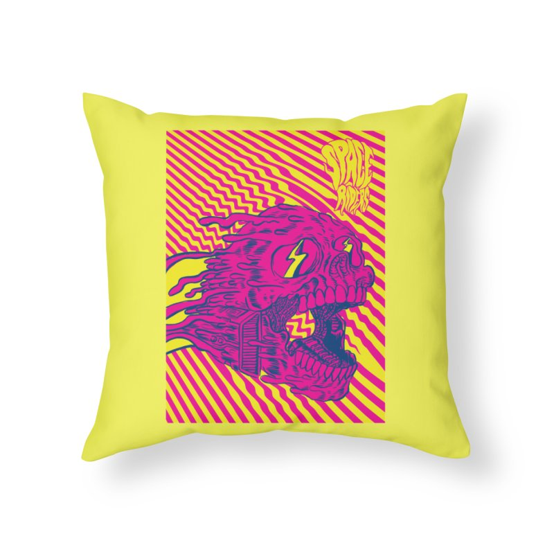 Space Riders - Loco Home Throw Pillow by Alexis Ziritt
